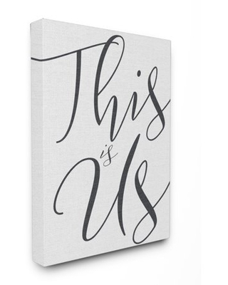 The Stupell Home Decor Collection This Is Us Typography Stretched Canvas Wall Art