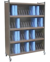 Omnimed Large Cabinet Style 60 Cap File Cart 260160 Color: Beige