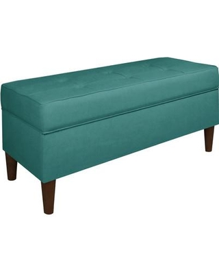Alcott Hill Ramey Tufted Soft Linen Upholstery Storage Bench ALCT8076 Upholstery Color: Laguna