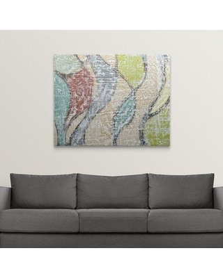 "Great Big Canvas 'Undulating Color III' Jennifer Goldberger Painting Print 2275627_ Size: 38"" H x 48"" W x 1.5"" D Format: Canvas"