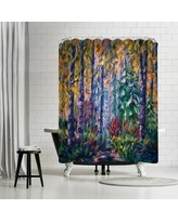 East Urban Home OLena Art Deep in the Woods Shower Curtain ETHH4168