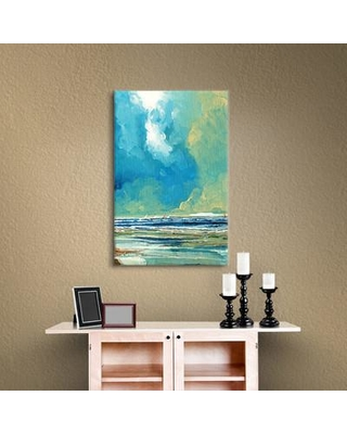 """Breakwater Bay Sea View On Boards Painting Print on Wrapped Canvas BRWT2284 Size: 48"""" H x 36"""" W x 2"""" D"""