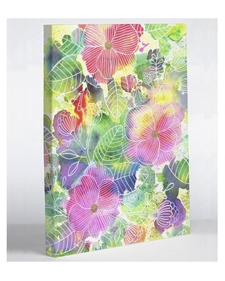 Can T Miss Bargains On Rainbow Splatter Flower By Ana Victoria Calderon Graphic Art On Wrapped Canvas One Bella Casa Size 20 H X 16 W X 2 D