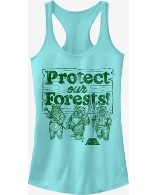 Star Wars Ewok Protect Our Forests Girls Tanks