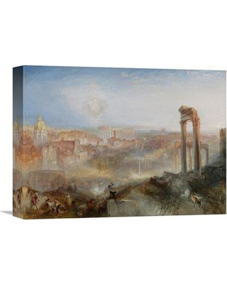 "Global Gallery 'Modern Rome - Campo Vaccino' by Joseph Mallord William Turner Painting Print on Wrapped Canvas GCS-454806 Size: 24"" H x 32"" W x 1.5"" D"