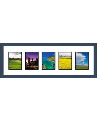 Frames By Mail 5 Opening Collage Picture Frame multimat-58717-107 / multimat-58717-108 Color: Blue