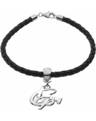"""Insignia Collection Sterling Silver & Leather """"I Love My Cop"""" Bracelet, Women's, Size: 7.5"""", multicolor"""