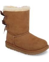 Girl's Ugg Bailey Bow Ii Water Resistant Genuine Shearling Boot, Size 5 M - Brown