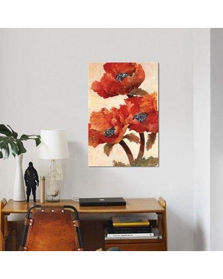 """East Urban Home 'Poppies I' Graphic Art Print on Canvas ESUH6165 Size: 12"""" H x 8"""" W x 0.75"""" D"""