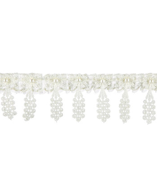 Ivory Pearl Lace Trim