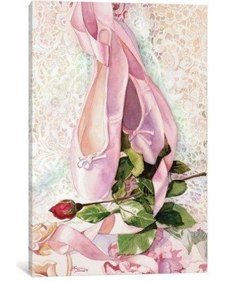 """East Urban Home 'Ballet Rose' Painting Print on Canvas EAUU1030 Size: 26"""" H x 18"""" W x 0.75"""" D"""