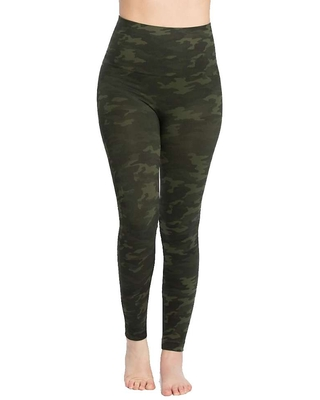 Spanx Women's Look At Me Now Seamless Legging - XS - Green Camo