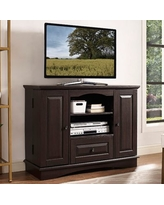"Forest Gate 42"" Traditional Wood TV Stand in Espresso"