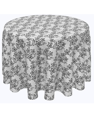 """Beauvue Lacey Butterflies and Flowers Tablecloth Red Barrel Studio® Size: 60"""" x 60"""""""