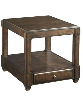 Halsey Collection 620-915 Rectangular Drawer End Table in Dark Rich