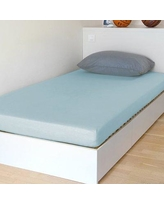 "BSensible Breathable and Waterproof Select Fitted Sheet and Protector 144KDB11 Size: 75"" H x 54"" W x 12"" D Color: Blue"