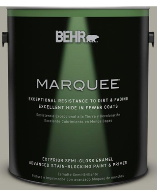 BEHR MARQUEE 1 gal. #ECC-48-1 Winter Rye Semi-Gloss Enamel Exterior Paint and Primer in One