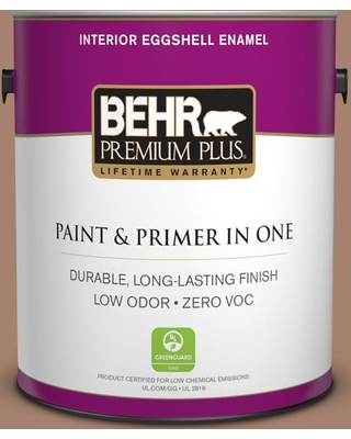 BEHR Premium Plus 1 gal. #S190-5 Cocoa Nutmeg Eggshell Enamel Low Odor Interior Paint and Primer in One