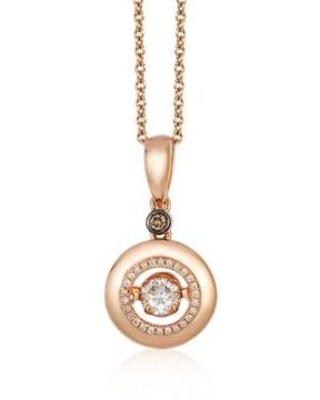 Le Vian Strawberry Gold® Vanilla Diamonds and Chocolate Diamonds Necklace in 14K Strawberry Gold