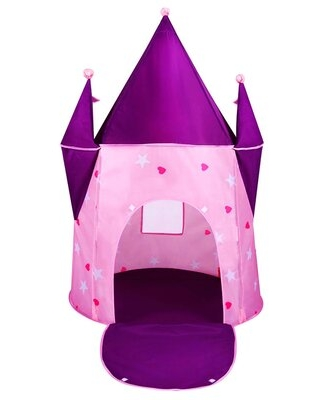 Toddler Crystal Castle Princess Pop-Up Play Tent with Carrying Bag Alvantor