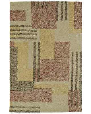 """Latitude Run Hand-Tufted Beige/Red Area Rug LTRN1908 Rug Size: Rectangle 3'6"""" x 5'6"""""""
