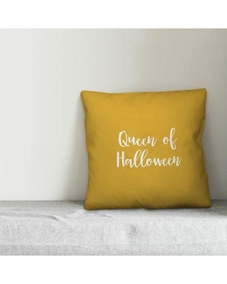 Winston Porter Olsson Queen of Halloween Pillow W000909630 Color: Mustard Product Type: Throw Pillow