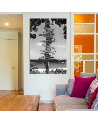 """East Urban Home Key West Directional Sign II by Philippe Hugonnard Photographic Print on Wrapped Canvas ESHM9494 Size: 26"""" H x 18"""" W x 1.5"""" D"""