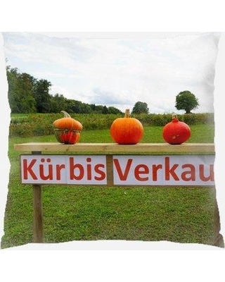 Amazing Deals On The Holiday Aisle Whisenhunt Pumpkin Indoor Outdoor Throw Pillow Polyester Polyfill Polyester Polyester Blend In Red Orange Green Size 18x18