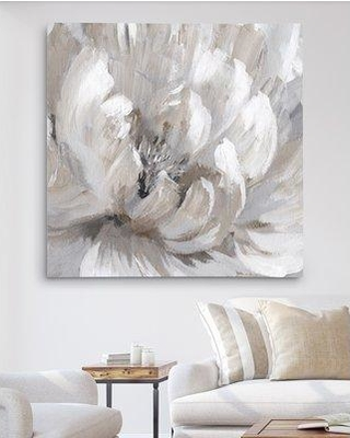 "House of Hampton 'Burst of Spring II' Oil Painting Print HMPT4214 Size: 32"" H x 32"" W x 1.5"" D Format: Wrapped Canvas"