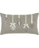Eastern Accents Dreaming of a White Christmas Glistening Ornaments Lumbar Pillow ATE-325