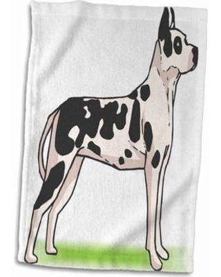 Symple Stuff Goshorn Cute And Cuddly Canine Great Dane Hand Towel W000698539