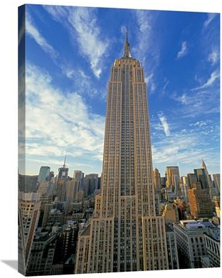 """Global Gallery 'The Empire State Building New York City' by Richard Berenholtz Photographic Print on Wrapped Canvas GCS-379099 Size: 32"""" H x 24"""" W x 1.5"""" D"""