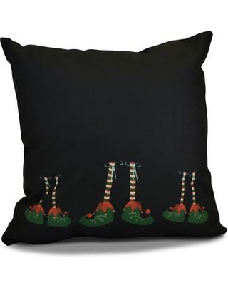 Big Deal On The Holiday Aisle Elfin Magic Square Throw Pillow Polyester Polyfill Polyester Polyester Blend In Black Size 18 H X 18 W Wayfair