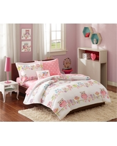 Striking Sara Microfiber Bedding Set 8pc (Full) Pin, Pink