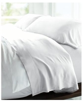 Cariloha Resort Viscose from Bamboo Queen Sheet Set, 400-Thread - White