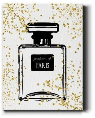 House of Hampton® Glitter Perfume I by Carol Robinson - Wrapped Canvas Painting Print, Canvas & Fabric in Brown/White/Black | Wayfair