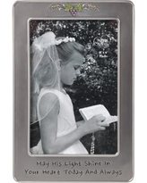May His Light Shine First Communion 4 x 6 Photo Frame - Multi