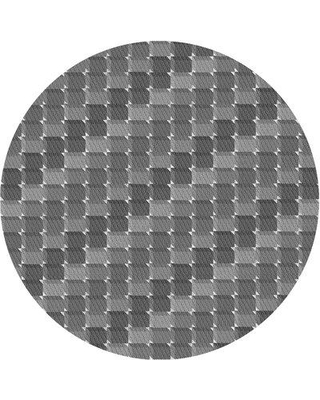 East Urban Home Knepper Geometric Wool Gray Area Rug X111729953 Rug Size: Round 3'