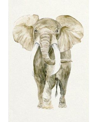 """East Urban Home 'Baby Elephant I' Watercolor Painting Print on Canvas ETUB7704 Size: 18"""" H x 12"""" W x 0.75"""" D"""
