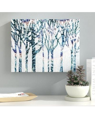 "Ebern Designs Leffingwell 'Forest Season' Graphic Art Print on Canvas BI077445 Size: 8"" H x 10"" W x 2"" D Format: Wrapped Canvas"