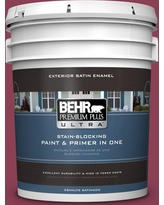 BEHR Premium Plus Ultra 5 gal. #T15-1 Liaison Satin Enamel Exterior Paint and Primer in One