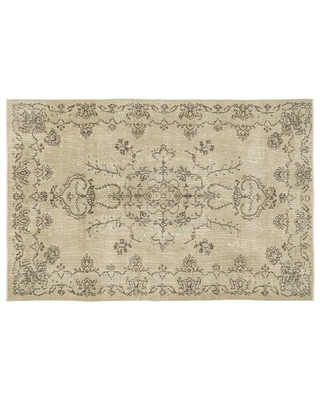 """One-of-a-Kind Hand-Knotted 6'5"""" x 9'7"""" Wool Beige Area Rug Isabelline"""