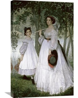 Global Gallery 'Portrait in a Park' by James Tissot Painting Print on Wrapped Canvas GCS-282922-30-142