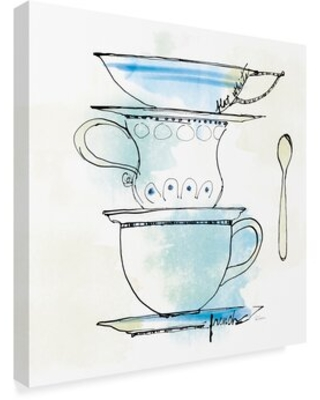 """'Good Brew VI' Acrylic Painting Print on Wrapped Canvas Charlton Home Size: 35"""" H x 35"""" W x 2"""" D"""