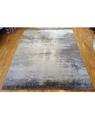 """One-of-a-Kind Hand-Knotted 9'11"""" x 13'7"""" Beige Area Rug Aga John Oriental Rugs"""