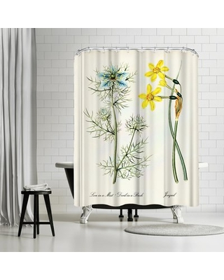 Adams Ale Jonquil Single Shower Curtain East Urban Home