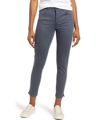 Women's Wit & Wisdom Ab-Solution High Waist Ankle Skinny Pants, Size 2 - Grey (Regular & Petite) (Nordstrom Exclusive)