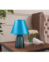 "House of Hampton Andresen 12"" Table Lamp W001725076 Finish: Blue"