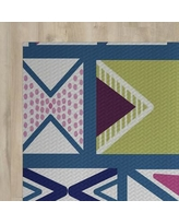 The Holiday Aisle Blue Indoor/Outdoor Area Rug HLDY1490 Rug Size: Rectangle 2' x 3'