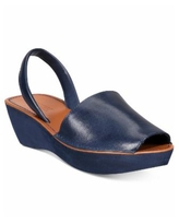 Kenneth Cole Reaction Women's Fine Glass Wedge Sandals - Navy